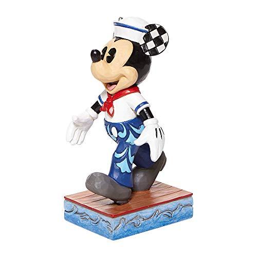 Jim Shore Disney Traditions 6008079 - Statuetta di Topolino Marinaio in posa, 13,3 cm