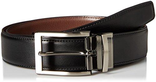Perry Ellis Men's Perry Ellis Portfolio Men's Nappa Leather Reversible Belt, Black/brown, 34
