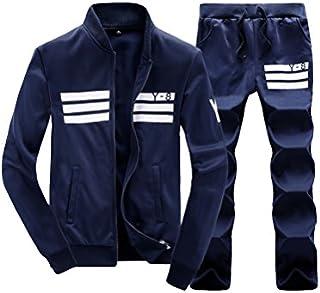Lavnis Men's Casual Tracksuit Long Sleeve Running Jogging Athletic Sports Set