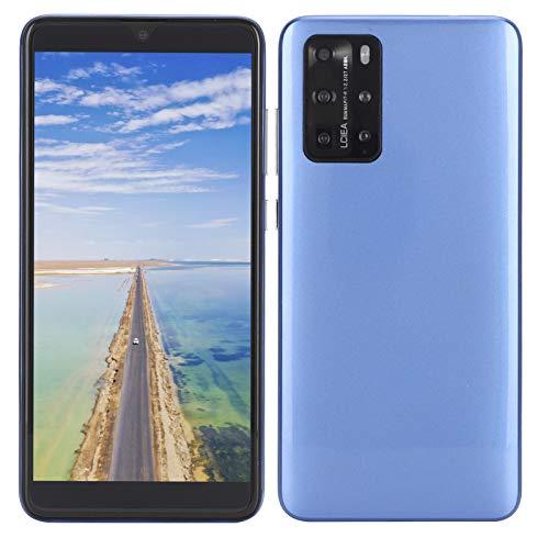Celulares Desbloqueados 3G, P48 Pro 5.8' Smartphones Smartphone Libres Teléfonos Móviles Baratos, Doble SIM, 512MB + 4GB, Android 6.1, con Auricular, Versión Global(Azul)