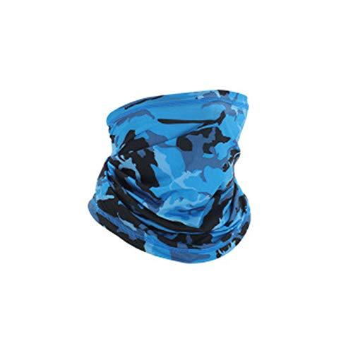 KKmoon Schlauchschal Herren Damen Gesicht UV-Schutz Schlauchtuch Nackenwärmer Motorradschal Kopftuch Stirnband für Laufen Radfahren Klettern Motorradfahren Outdoor Blau