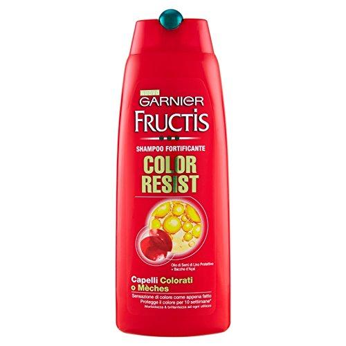 Garnier Champú Fructis Color Resist, para cabello teñido, 250 ml, paquete de 12