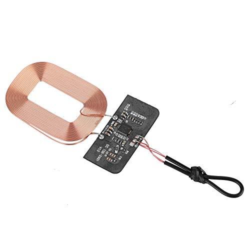 Bewinner Módulo receptor inalámbrico Qi estándar - Protección multietapa - Amplia compatibilidad - Bobina de placa de circuito receptor - Piezas de cargador inalámbrico DIY