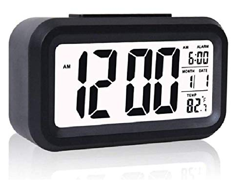 Style2Impress™ Digital Smart Alarm Clock with Automatic Sensor,Backlight Digital Clock/Car Dashboard/Office Desk,with Date & Temperature,Alarm Clock for Bedroom