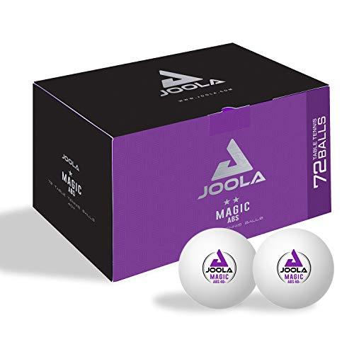 Joola Magic Abs 40+ - Pelotas de Ping Pong para Adultos, Color Blanco, Talla única