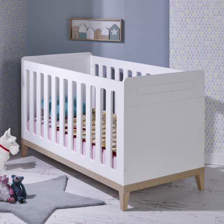 Alfred & Compagnie Lit bébé évolutif 70x140 Siki blanc