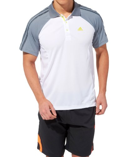 Adidas Polo para hombre Clima365 M, color blanco