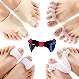 Bunion Corrector and Bunion Pain Relief Kit, Gel Bunion Pads & Sleeve, Toe Separators Spacers Straighteners for Men and...