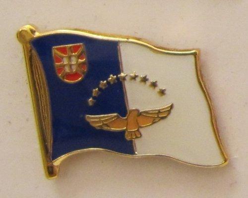 Preisvergleich Produktbild Pin Anstecker Flagge Fahne Azoren Flaggenpin Button Badge Flaggen Clip Anstecknadel