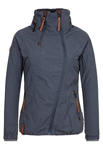 Naketano Damen Jacke Forrester Jacket, dark bluegrey, XS