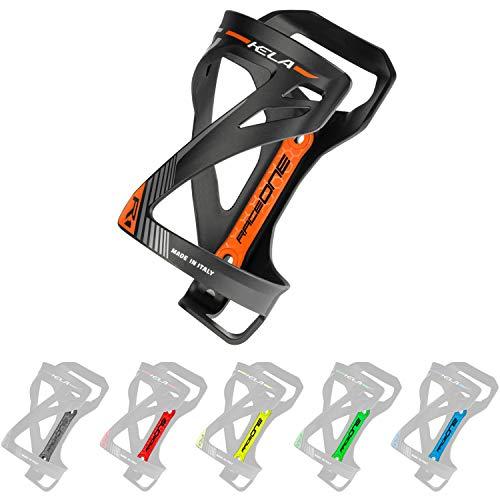 P4B | Flaschenhalter für Ihr Fahrrad in Black/Orange - KELA | 3 Verschiedene Wege um die Flasche einzufügen | Sehr Robustes Material | Mit Befestigungsschrauben