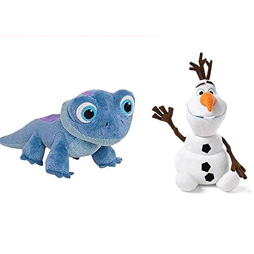 2 unids Muñeco de nieve Fuego Fiebre Fiebre Fire Elvesplush Juguete Peluche Relleno Doll Pprincess Peluche Muñeca para niños Niño Regalo de cumpleaños