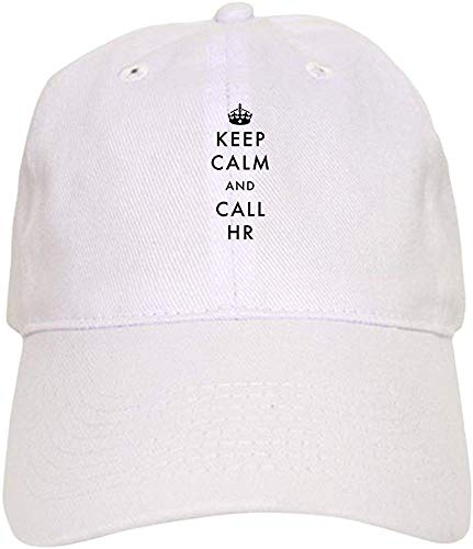 Clothing decoration Keep Calm and Call HR - Baseball Cap with Adjustable Closure, Unique Printed Baseball Hat