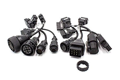 vhbw Set Adapter OBD1 auf OBD2 für LKWs z.B. passend für Iveco, Knorr, Man, Mercedes, Renault, Scania, Volvo