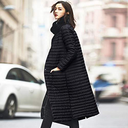 DPKDBN donsjack, ultralicht donsjack vrouwen lange puffjas plus size winter eend opstaande kraag lichte ultralichte vrouwelijke mantels