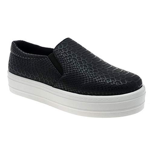 Pierre Dumas Outwoods Women's Flat Platform Shoes 6 Black