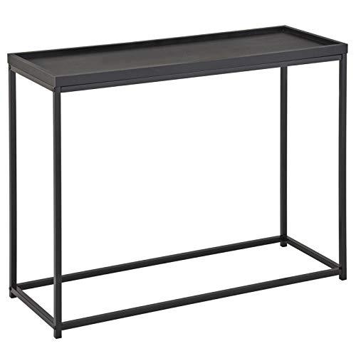 Konsolentisch Iconic modernes Design, Konsole Sideboard Ablagetisch Flurtisch, Metallgestell, in schwarz