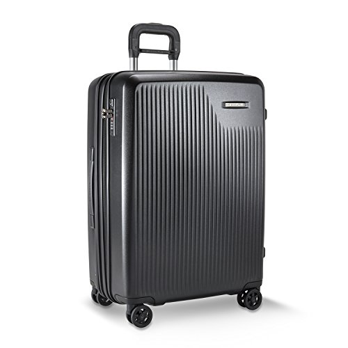 Briggs & Riley Sympatico-Hardside CX Expandable Medium Checked Spinner Luggage, Black, 27-Inch