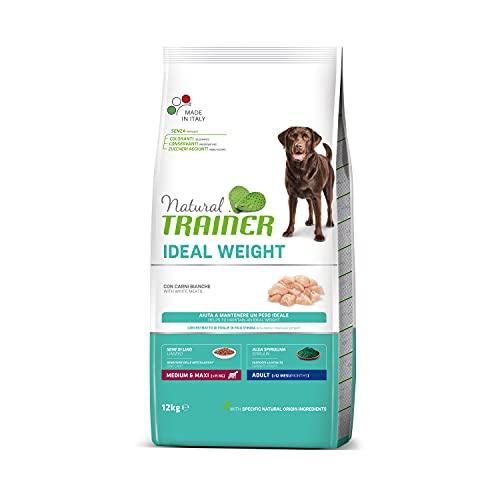 Natural Trainer Ideal Weight - Cibo Secco per Cani Adulti di Taglia Media e Grande, con Carni Bianche, 12 kg