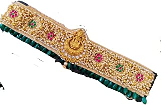 Ayesha Fashions Made for Maggam work Jewellery Celebrity Inspired Adjustable Women's Cloth Maggam work Multicolor Kamarban...