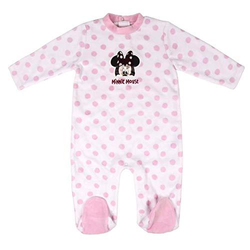CERDÁ LIFE'S LITTLE MOMENTS 2200006318_T06M-C70 Pelele Minnie Mouse Niña Licencia Oficial Disney, Rosa, 6 Meses para Bebés