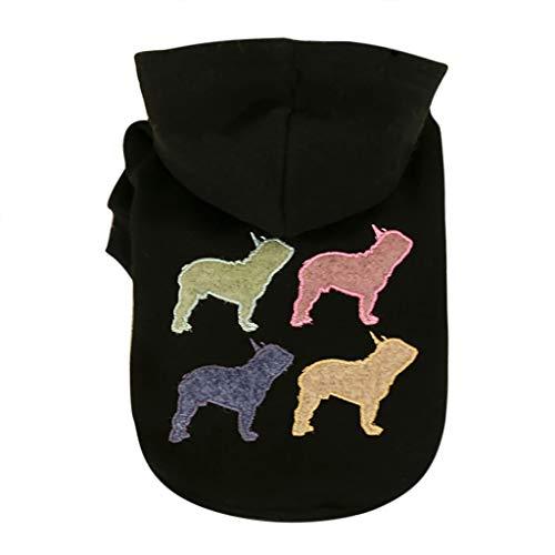 Coversolat Hundepullover Kleine Hunde - Hund Pullover Sweater Hundekleidung Corgi (2XL, Schwarz)
