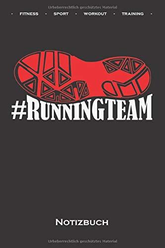 Runningteam Marathon Shirt Training Geschenk Notizbuch: Kariertes Notizbuch für Fitness-begeisterte und Fans des Körperkults