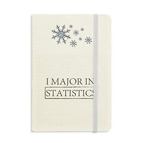 Cuota I Major In Statistics Cuaderno Grueso Copos De Nieve Invierno