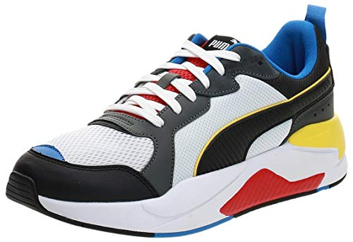 PUMA X-Ray, Scarpe da Ginnastica Uomo, Bianca White Black-Dark Shadow-High Risk Red-Palace Blue, 44 EU