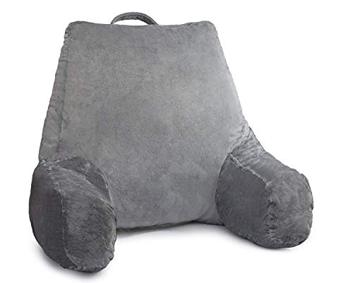 Ziraki Large Plush Shredded Foam Reading And TV Relax Pillow - Perfect for Adults, Teens, and Kids -for Bed Rest, Arm, Back, Lumbar & Head Support Cushion