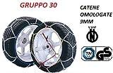 RICAMBIITALIA2017 Set Catene da Neve 9 Millimetri per Auto OMOLOGATE TUV GS - V5117 Gruppo 30 txr9