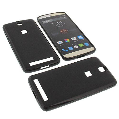 foto-kontor Tasche für Elephone P8000 Gummi TPU Schutz Hülle Handytasche schwarz