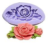 nalmatoionme silicona manualidades decoración fondant molde DIY Mini flor pasta de azúcar molde herramienta (color al azar)