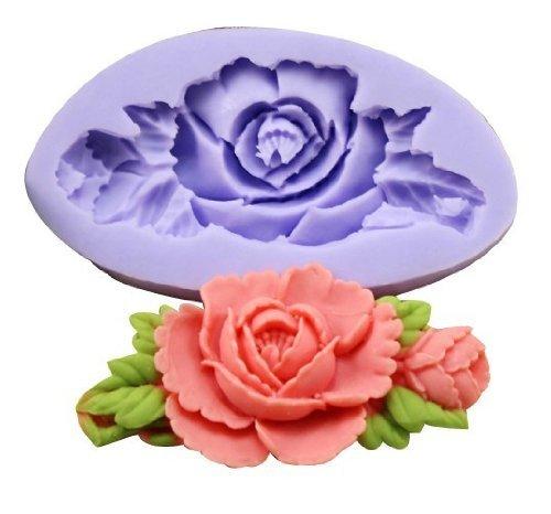 Romote (1-Pack) Mini Fiore zucchero resina silicone bricolage fai da te fiori muffa pasta di gomma di decorazione di torta fondente Mold