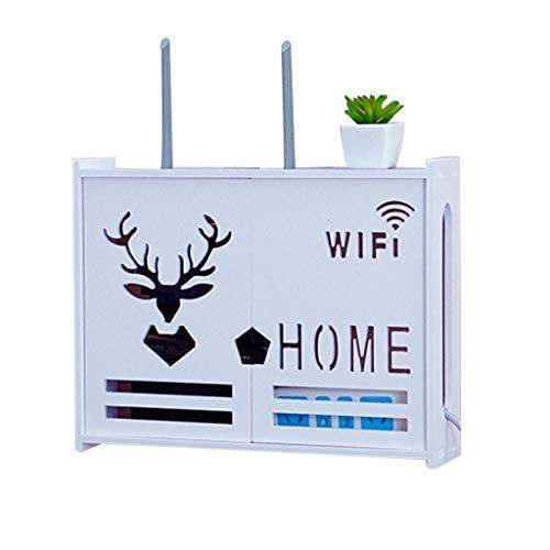Multifunción Caja de almacenamiento enrutador Conjunto-Top-Top Wireless WiFi Caja decorativa TV Estante flotante Conjunto de cajas de tapa Multifuncional Multifuncional Punch-Free Multimedia Box blind