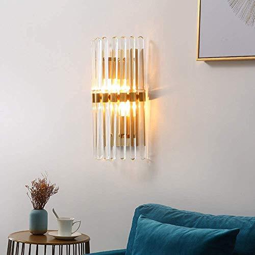 YANQING duurzame moderne minimalistische koper kristal glas wandlamp woonkamer muur lamp creatieve persoonlijkheid slaapkamer nachtkastje led beugel licht goud verlichten uw leven