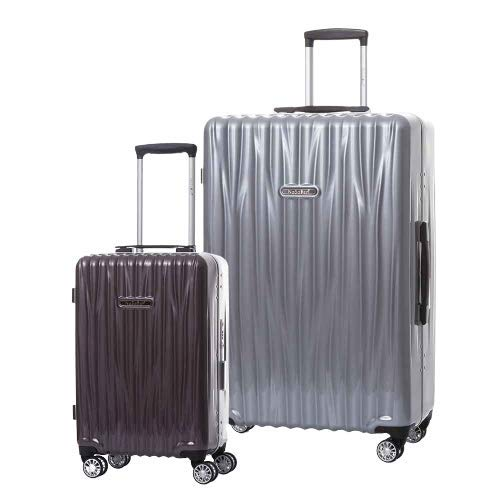 Best Prices! NaSaDen Aluminum Frame Hardside Luggage Set Spinner Suitcase with TSA Lock 100% PC [Pur...