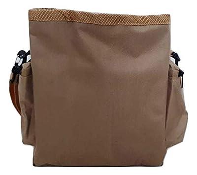 Large Metal Detector Shoulder Bag/Pouch, Treasure Hunting Finds Pouch/Bag. for Garrett, Minelab, Bounty Hunter etc. Features Bottom with Leak Holes, Adjustable Belt Clips & 2 Pinpointer Holders.