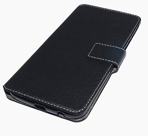 Handy Tasche Hülle Book für Lenovo Moto Z Play - Schutzhülle Hülle Handytasche Black