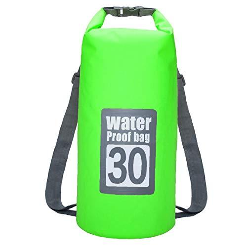 Liadance Bolsa Impermeable Seco 30l Piscina Mochila con Correa Ajustable para Kayak Canotaje Deriva Verde