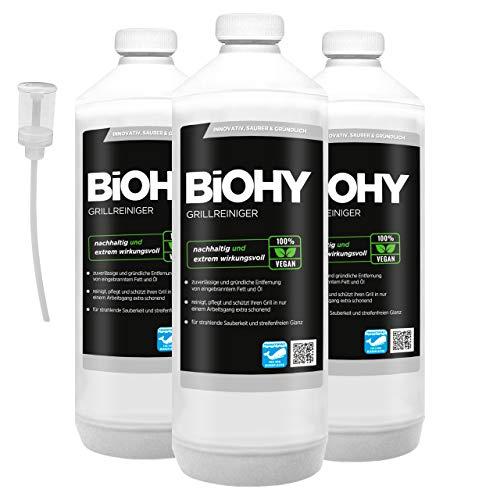 BiOHY Limpiador de parrillas (3 botellas de 1 litro) + Dosificador  ...