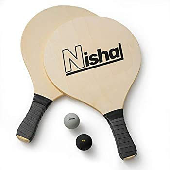 Paddle Ball Game - Smash Ball Set | Premium Set of 2 Smash Rackets 2 Balls & Free Tennis Grips | Official Smashball Included | Thick Plastic Case