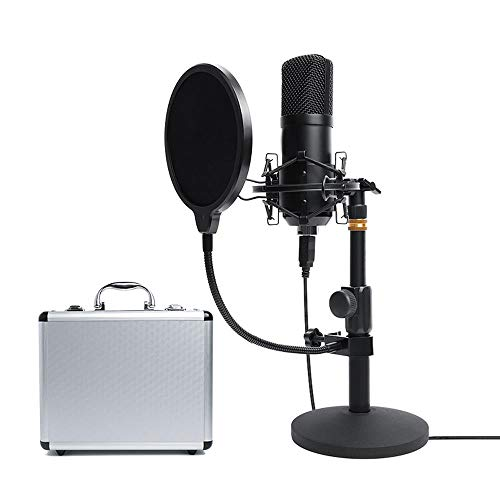 USB Plug and Play Desktop Stand Live Microphone Set Condenser Microphone Live Recording Device