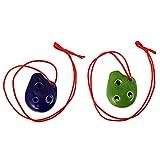 generic 2pcs 6 buche ocarina alto ocarina squisita tradizionale strumento ac classico ocarina dipinto a mano in ceramica ocarina per i bambini principianti regalo