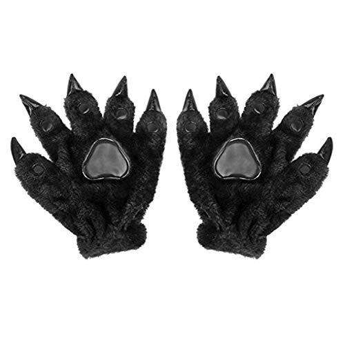 Unisex Halloween Cosplay Gloves Costume Bear Claw Cute Mitten Fancy Party Prop