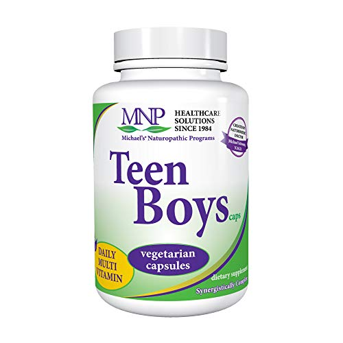 Michael's Naturopathic Programs Teen Boys Capsules - 120 Vegetarian Capsules - Daily Multivitamin Supplement with B Complex Vitamins & Male Herbal Blend - Gluten Free, Kosher - 60 Servings