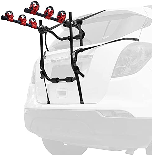 Bike Trunk Mount 3-Bike Car Carrier Rack for Bicycle Rack Fits Most Cars,...