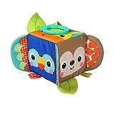 Bright Starts, Hide & Peek Block, Spielzeug Stoffwürfel mit verschiedenen Strukturen und babysicherem Spiegel