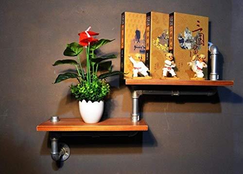 Wandboekenplanken LOFT Retro ijzeren boekenkast Industriële stijl Massief houten muur hangende planken Plantvertoningsstandaard Muuropslagrek displaystandaard