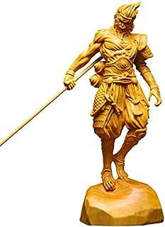 金品木彫 半手創り 木製彫刻 「西遊記」孫悟空 室内置物 ツゲの木彫り